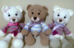 Miś z włóczki Handmade Teddy Bear