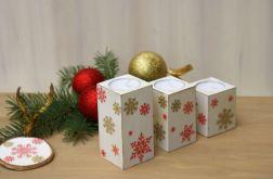 Świeczniki na stół świąteczny kwadratowe