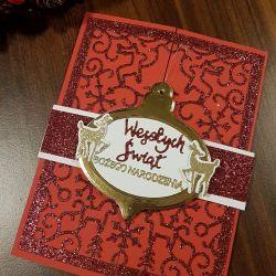 Kartka bożonarodzeniowa z zawieszką KH2012005