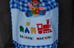 Worek na zabawki z imieniem dziecka - wersja chłopięca