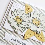 Kartka UNIWERSALNA - popielato-szare kwiaty - Uniwersalna kartka z warstwowymi kwiatami