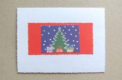 Kartka świąteczna -prezenty