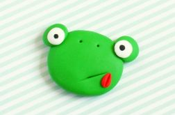 Żabka - broszka przypinka z Fimo