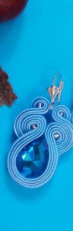 Małe Błękitne kolczyki sutasz