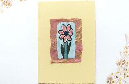 Kartka uniwersalna kremowa z kwiatkiem 2