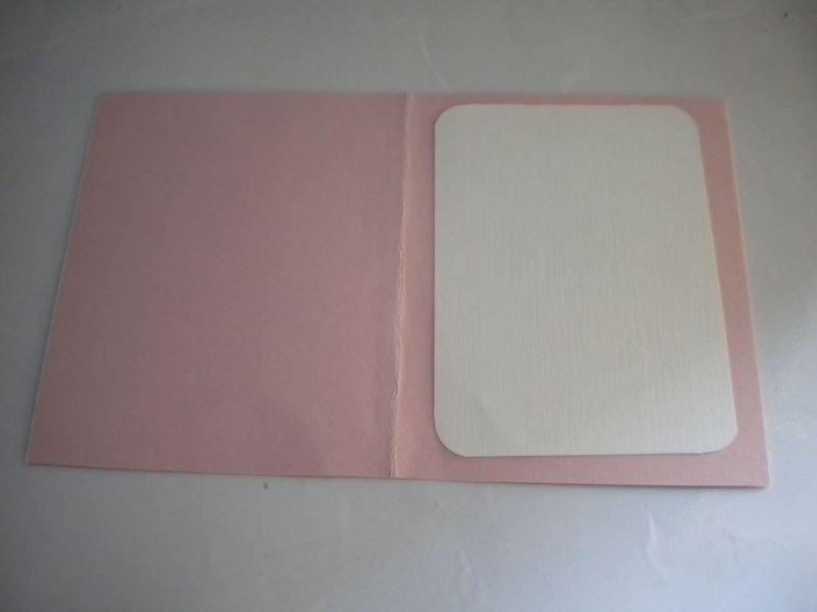 Kartka haftowana - lilie - środek kartki