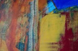 Obraz abstrakcja orange&blue 40x40