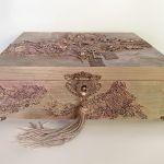 Szkatułka, pudełko vintage rose -