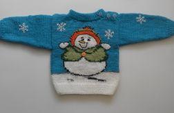 sweterek z bałwankiem dla Pani Reginy