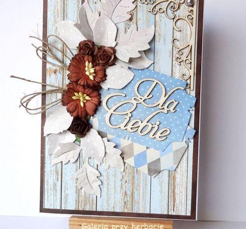 Kartka Dla Ciebie niebieska