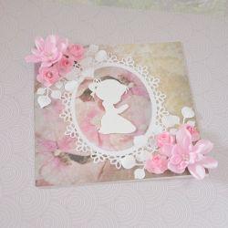 Kartka dla dziewczynki + koperta + personaliz