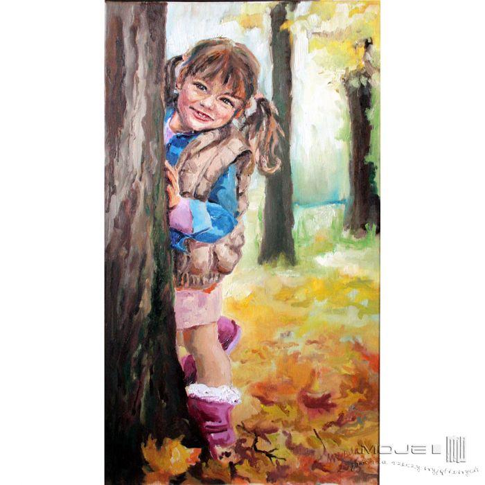 Jesienna dziewczynka