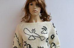 Mocherowy sweterek w bohomazy