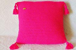 Różowa neonowa poduszka 45 x 45 cm
