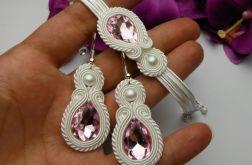 Biżuteria ślub kryształowa soutache sutasz