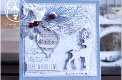 Kartka - Boże Narodzenie z mediowym tłem