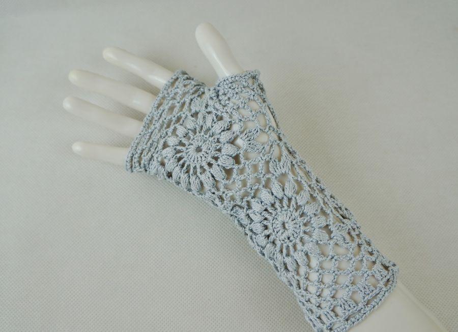 Mitenki popielate - szare rękawiczki