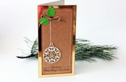 Złota kartka świąteczna