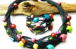 Kolorowy, ekologiczny zestaw biżuterii