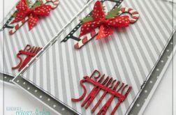 Kartka świąteczna z cukierkową laską 1