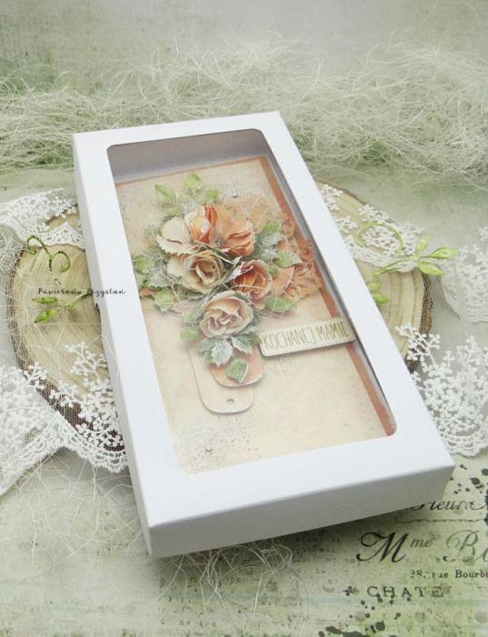 Kochanej Mamie- kartka w pudełku 6 - kartka dla mamy w pudełku