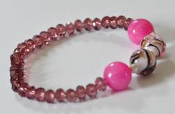 Bransoletka kwarc różowy