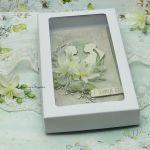 Kartka ślubna z młodą parą vol.2 w pudełku - ślubne pudełko na pieniądze