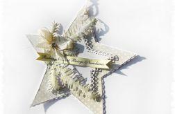 Gwiazdka - kartka, zawieszka