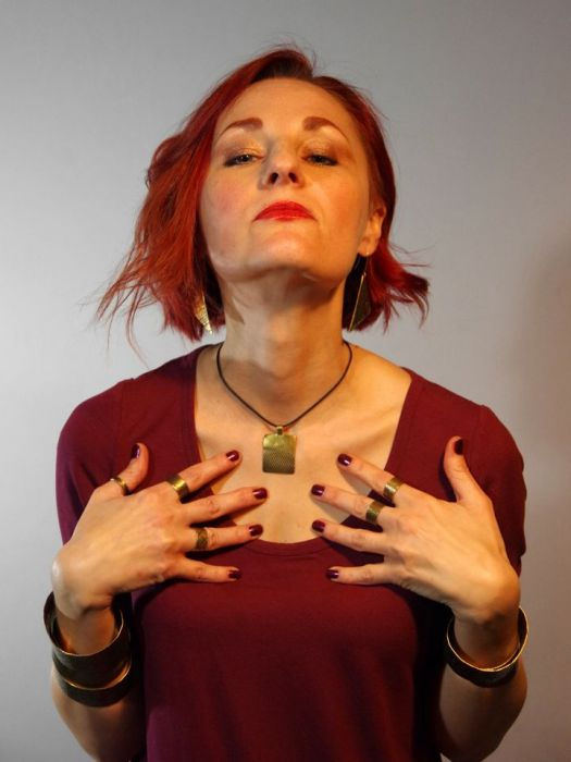 Nitki - mosiężny wisiorek 201115-01 - Mosiężna biżuteria