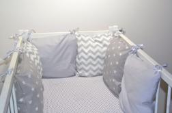 Modułowy ochraniacz do łóżeczka 6 szt N41