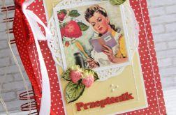 Retro przepiśnik z truskawkami