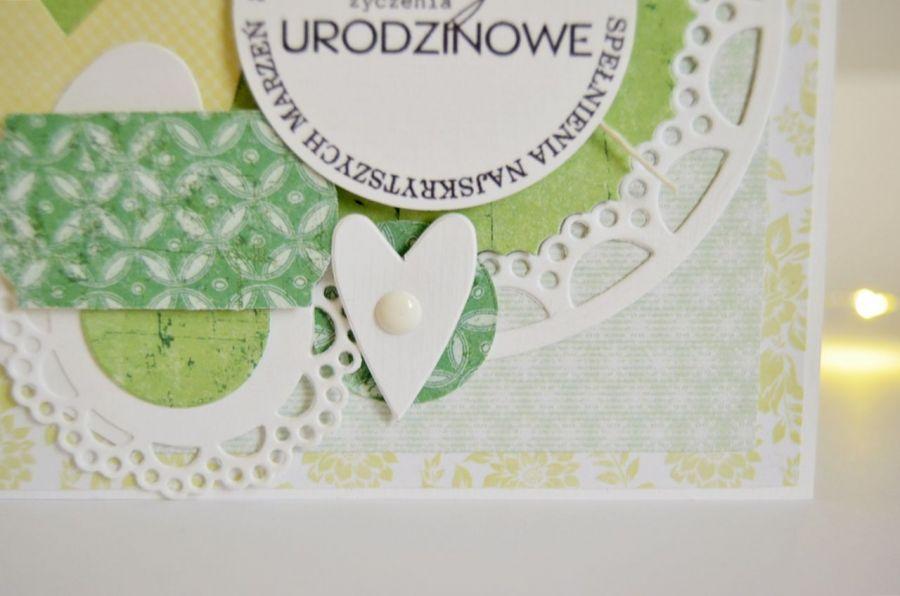 Kartka na Urodziny w zieleni