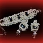 bransoletka i kolczyki, ślub-biżuteria sutasz