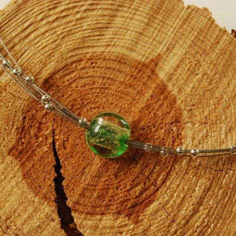 Naszyjnik ze szkłem weneckim