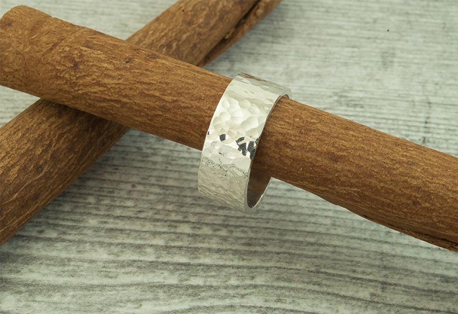 Pierścionek - obrączka srebrna 925- unisex AG