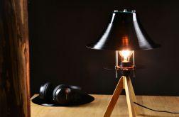 Lampka stołowa winylowa płyta winyl retro uni