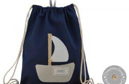 plecak worek do przedszkola z imieniem żag