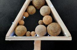 Mała Choinka drewniana 20 LED skandynawska