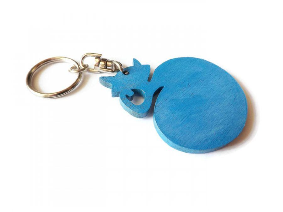 Breloczek malowany Kotek - jasnoniebieski +