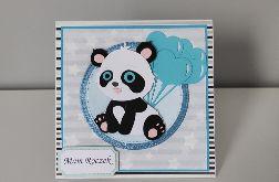 Kartka na roczek panda