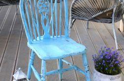 Błękitne krzesło, shabby chic, vintage