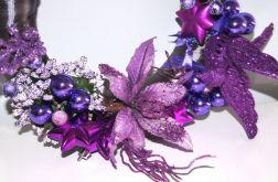 stroik świąteczny fioletowy PROMOCJA