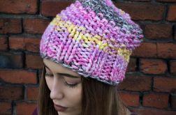 Handmade melanżowa kolorowa czapka