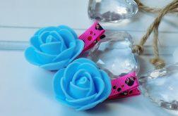 spineczki handmade 2 szt. kwiatki