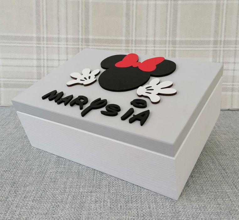 Kuferek na drobiazgi z lusterkiem- Minnie- MmC11 - pudełko na drobiazgi dla dziewczynki