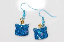 Kolczyki kot niebieskie