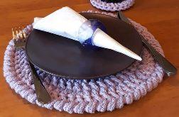 Podkladki ze sznurka bawełnianego komplet