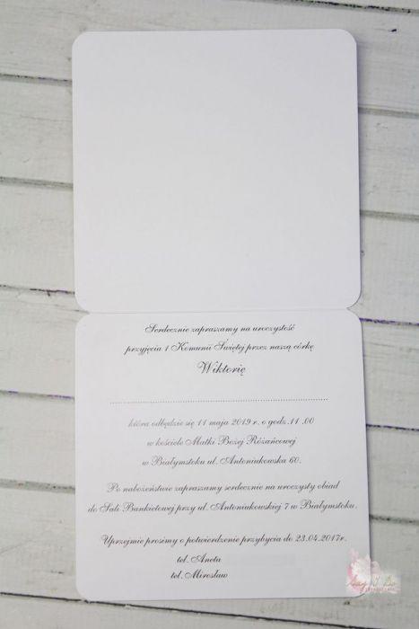 Zaproszenie na Komunię Świętą 013 - Przykładowe wnętrze zaproszenia
