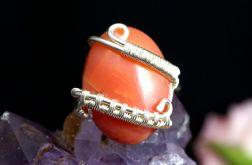 Srebrny pierścionek z agatem dragon vein