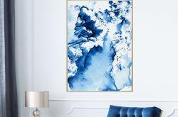 Plakat abstrakcja blue 50X70 B2